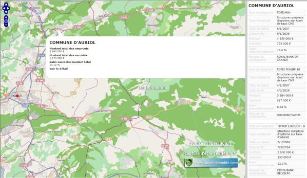 Auriol lourdement touché par les emprunts toxiques - Libé