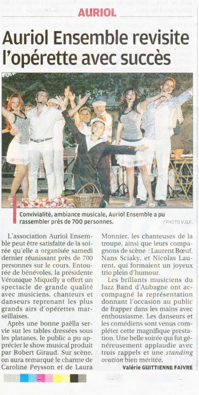 La Provence - 16 juillet 2012