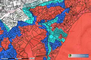Zones du Plan de Prévention des Risques Incendies de Forêts (PPRif) - Auriol