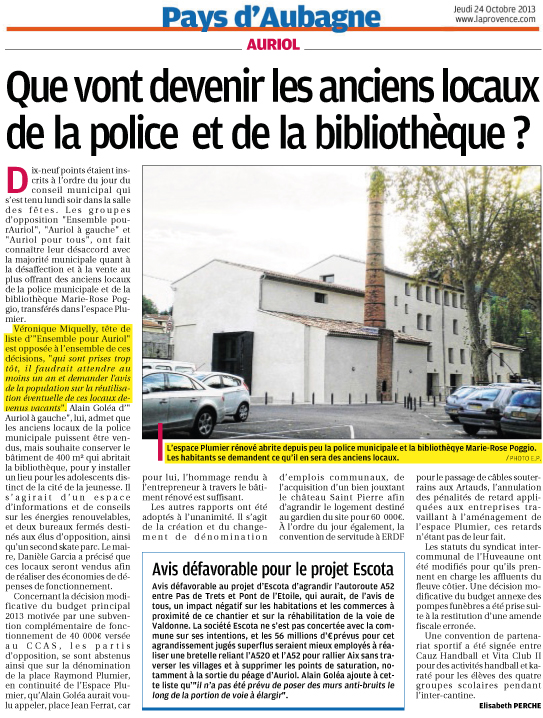 Article-La-Provence-24-10-2013-BRADERIE-A-LA-MAIRIE