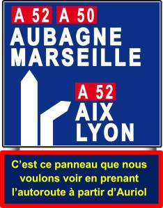 Panneau Auriol-Aix