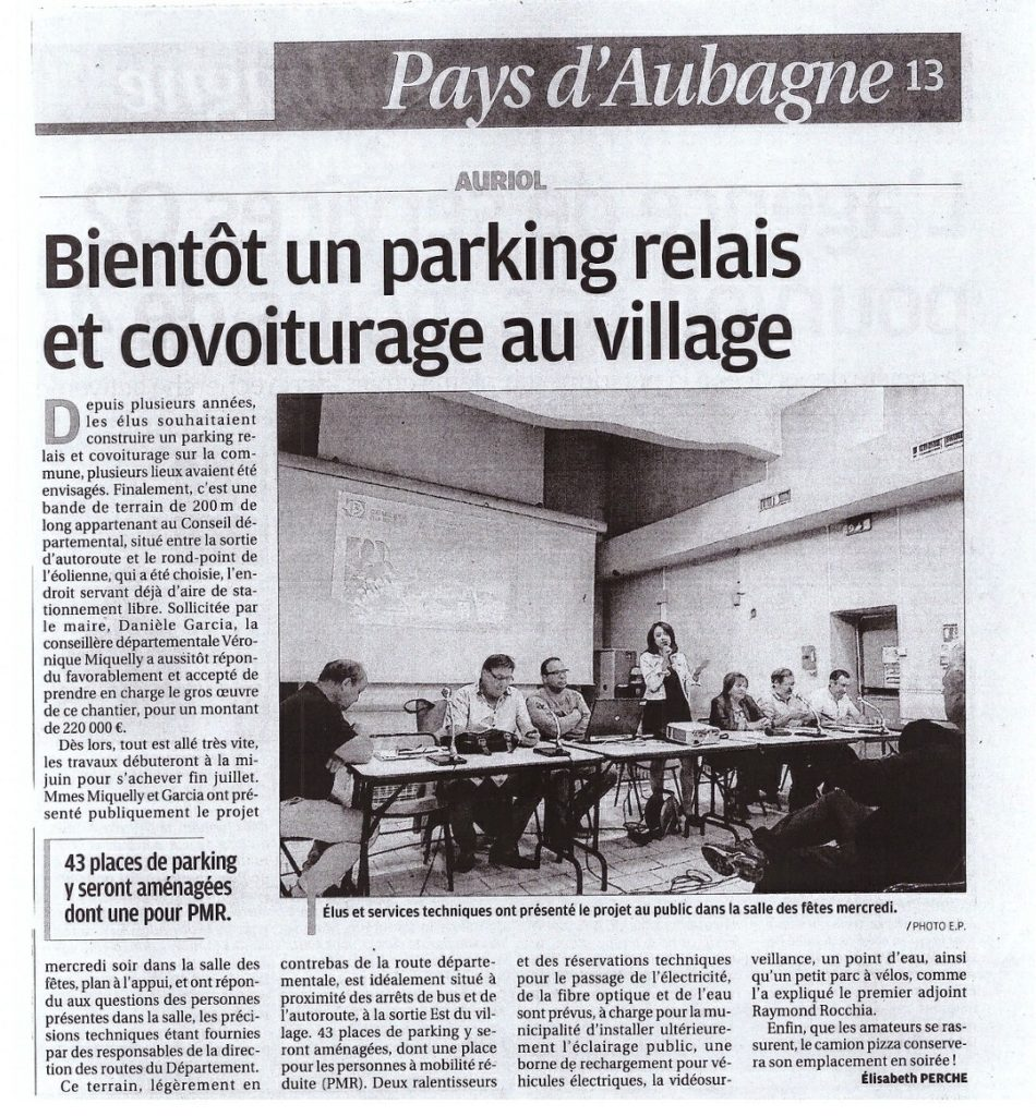 Auriol parking relais covoiturag