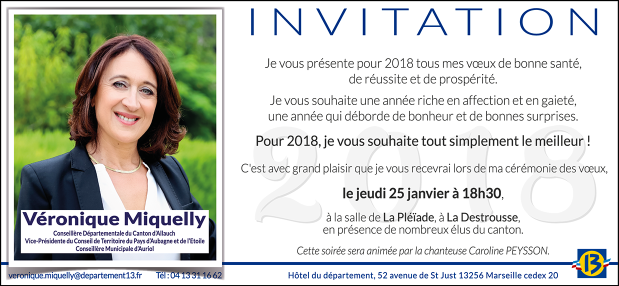 Invitation vœux Véronique Miquelly 2018