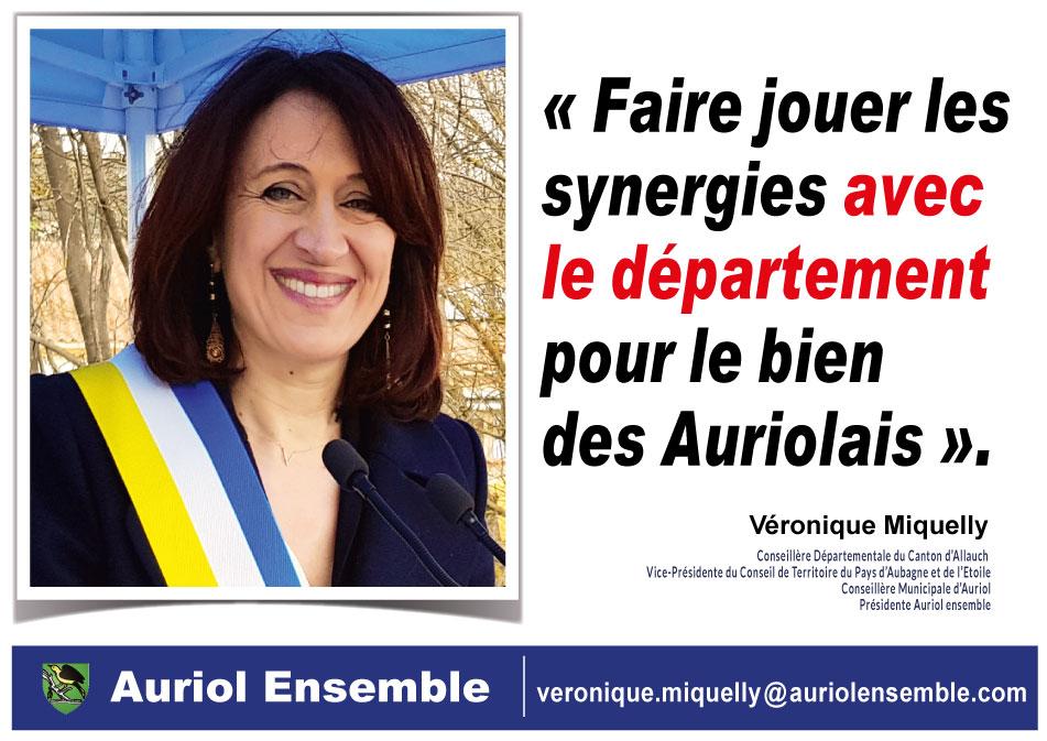 Faire jouer les synergies avec le département pour le bien des Auriolais