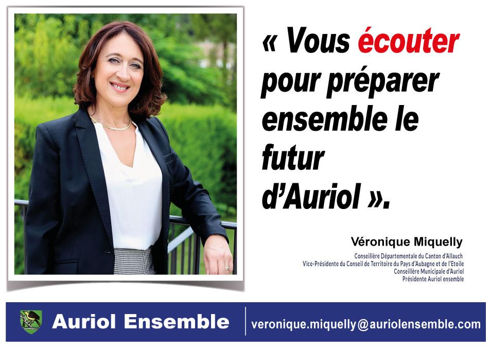 Vous écouter pour préparer ensemble le futur d'Auriol. Véronique Miquelly