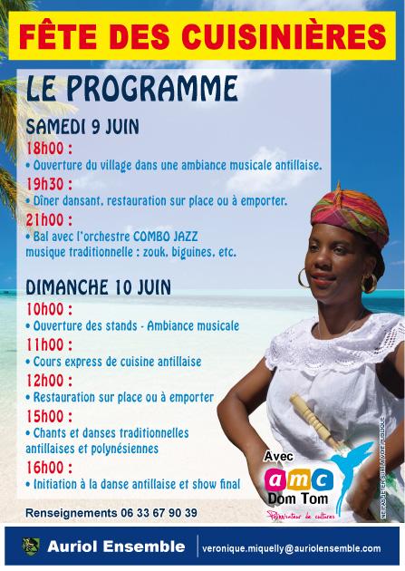 Auriol Ensemble organise un Week-end Antillais à Auriol les 9 et 10 juin